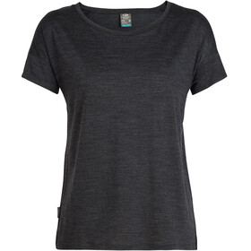 Icebreaker Via SS Scoop Shirt Women black heather